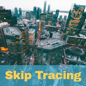 Skip tracing services for debt collection